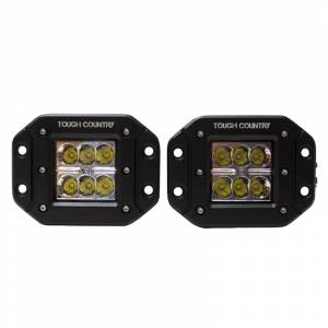 "Tough Country - Tough Country 2x2"" Flush Mount LED Lights Pair"