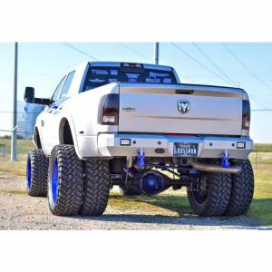 Fusion Bumpers - Fusion 1015RAMRBBS Rear Bumper with Dually Cut Outs with Sensor Holes Dodge RAM 2500/3500 2010-2016