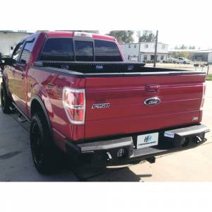 Hammerhead Bumpers - Hammerhead 600-56-0180 Rear Bumper with Sensors Ford F150 2011-2014 Ecoboost