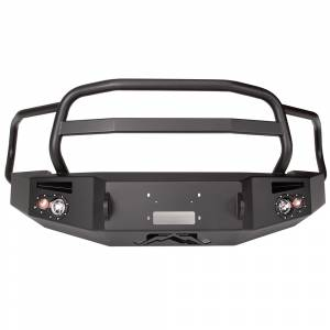 Fab Fours - Fab Fours DR13-H2950-1 Winch Front Bumper with Grille Guard Dodge 1500 2013-2016