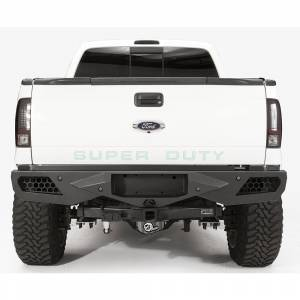 Fab Fours - Fab Fours FS08-E1351-1 Vengeance Rear Bumper with Sensor Holes Ford F250/F350 1999-2016
