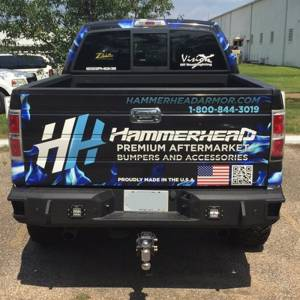 Hammerhead Bumpers - Hammerhead 600-56-0477 Flush Mount Rear Bumper with Sensors Ford Raptor 2010-2014