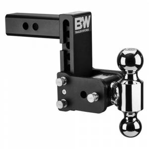 "B&W Hitches - Black Tow & Stow Hitch (5"" drop x 5 1/2"" rise) Dual Ball (2"" x 2-5/16"") for 2"" Receiver - B&W TS10037B"