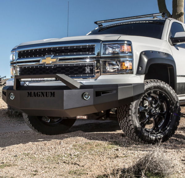 ici fbm61chn rt front bumper with rt series light bar chevy silverado 1500 2014 2015. Black Bedroom Furniture Sets. Home Design Ideas