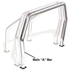 Go Rhino - Go Rhino 98001PS Rhino Bed Bars Front Main A Bar