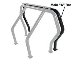 Go Rhino - Go Rhino 94001B Rhino Bed Bars Front Main A Bar