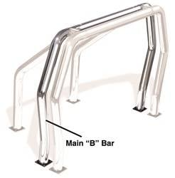 Go Rhino - Go Rhino 90002PS Rhino Bed Bars Rear Main B Bar