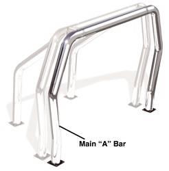 Go Rhino - Go Rhino 90001C Rhino Bed Bars Front Main A Bar