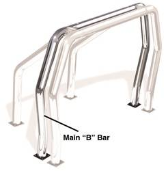 Go Rhino - Go Rhino 91002PS Rhino Bed Bars Rear Main B Bar