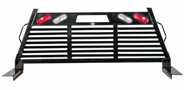 Frontier Gear - Frontier Gear 110-20-7008 2HR Headache Rack Chevy/GMC 1500/2500/3500HD Full Louvered With Lights 2007-2015