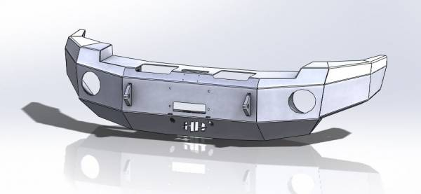 """Hammerhead Bumpers - Hammerhead 600-56-0421 Front Bumper with 6"""" Round Light Holes Dodge RAM 2500/5500 2003-2005"""