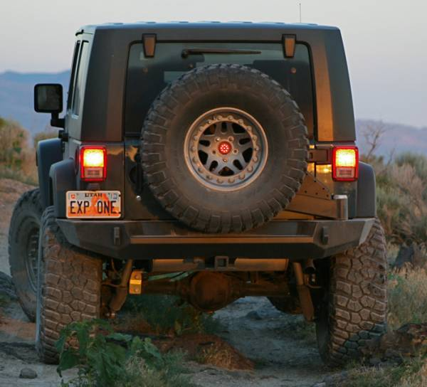 Expedition One - Expedition One JKRB100_STC Trail Series Rear Bumper/Tire Carrier System Jeep Wrangler JK 2007-2018