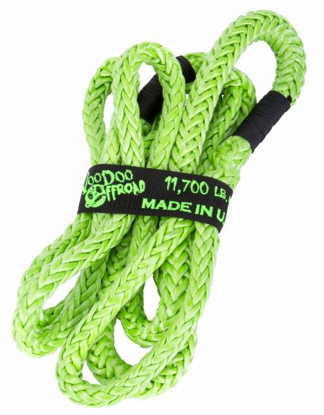 "VooDoo Offroad - VooDoo Offroad 1300006 1/2"" x 10' UTV Kinetic Recovery Rope Green"