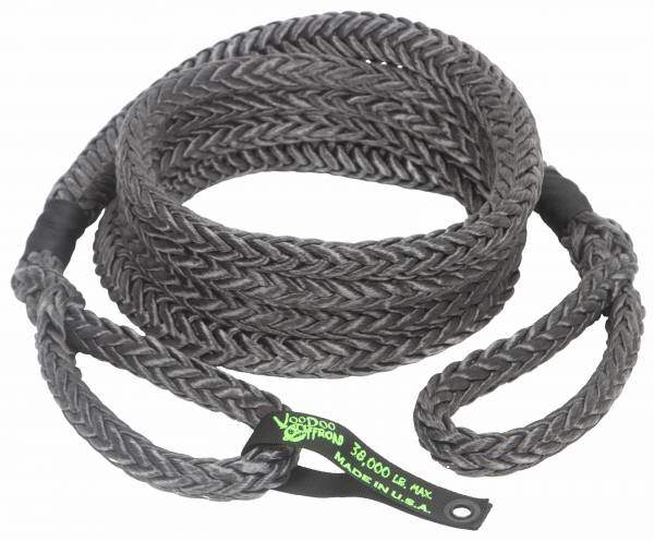 "VooDoo Offroad - VooDoo Offroad 1300027 7/8"" x 30' Truck/Jeep Kinetic Recovery Rope Black with rope bag"