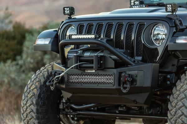 Go Rhino - Go Rhino 331101T Rockline Front Bumper with Stubby Bar Jeep Wrangler JL 2018-2019