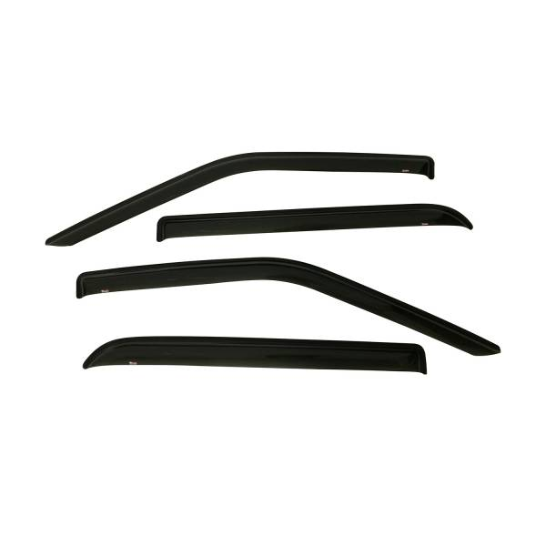 Westin - Westin 72-37444 Tape On Wind Deflector 4pc Ford F-150 SuperCrew 2015-2020 and F-250/350 SuperCrew SuperDuty 2017-2019