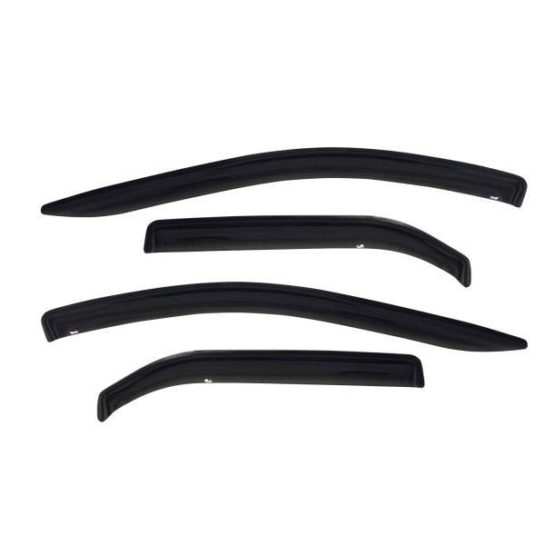 Westin - Westin 72-37486 Tape On Wind Deflector 4pc Ford/Lincoln/Mercury Explorer 4dr 2002-2010 and Mountaineer 2002-2011 and Explorer Sport Trac 4dr 2007-2010 and Aviator 2002-2005