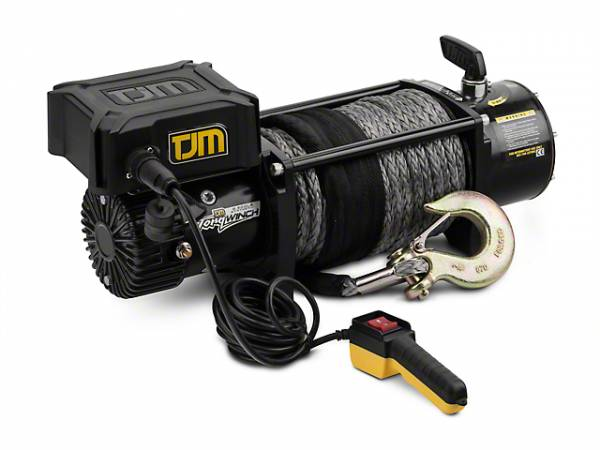 TJM - TJM 947TQBLK95DDS 9.5K Torq Winch with Synthetic Rope