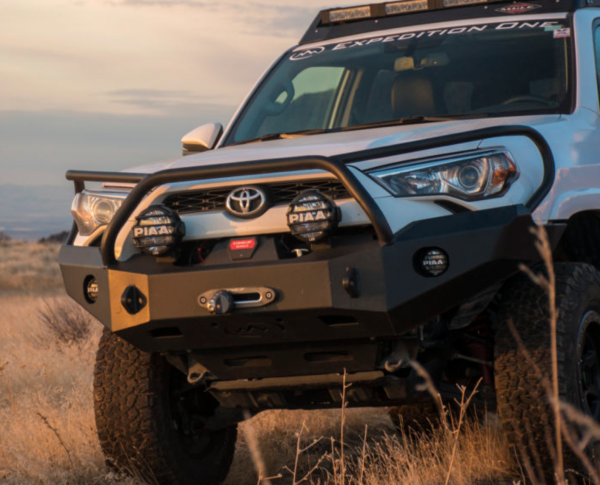 Expedition One - Expedition One 4RFB100_H_BARE Bare Steel Front Bumper with Single Center Hoop Toyota 4Runner 2014-2019