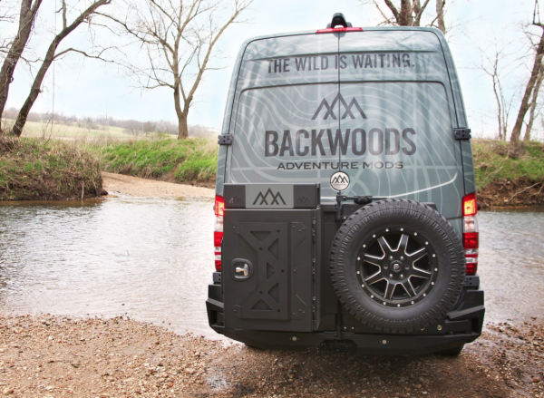 Backwoods - Backwoods BWMEMS-203ZZVVN  NOMAD Rear Bumper without Radar with Dual Swintouts and Flush Mount Holes Bare Steel Mercedes Sprinter 2014-2018