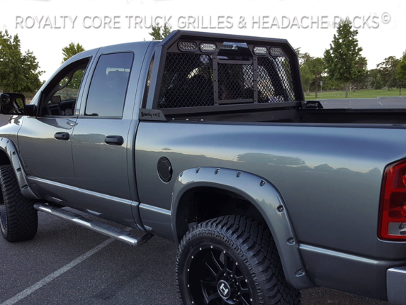 Royalty Core - Royalty Core 15330 Dodge Ram 2500/3500/4500 2010-2020 RC88 Billet Headache Rack w/ Integrated Taillights