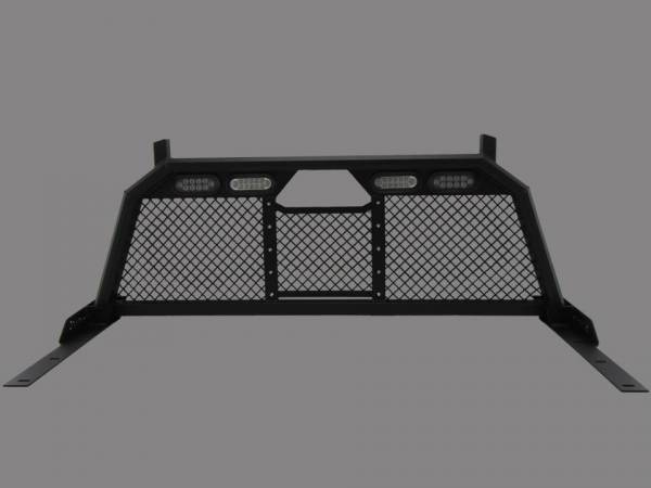 Royalty Core - Royalty Core 15325 Dodge Ram 1500 2002-2008 RC88 Ultra Billet Headache Rack w Integrated Taillights