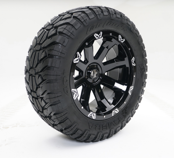 """Fab Fours - Fab Fours 24"""" x 12"""" Wheel and Tire Package with 40"""" Kymera Tires set of 4"""