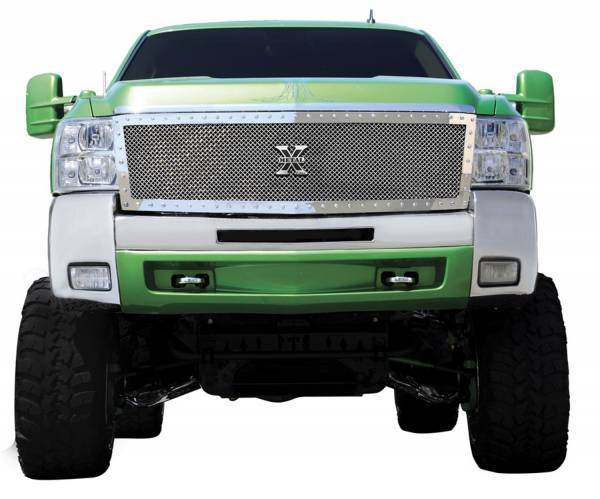 T-Rex Grilles - T-Rex Grilles 6711130 X-Metal Series Studded Mesh Grille