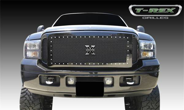 T-Rex Grilles - T-Rex Grilles 6715611 X-Metal Series Studded Mesh Grille