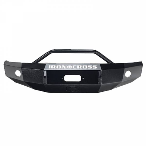 Iron Cross - Iron Cross 22-315-14 Winch Front Bumper with Push Bar for GMC Sierra 1500 2014-2015 - Gloss Black