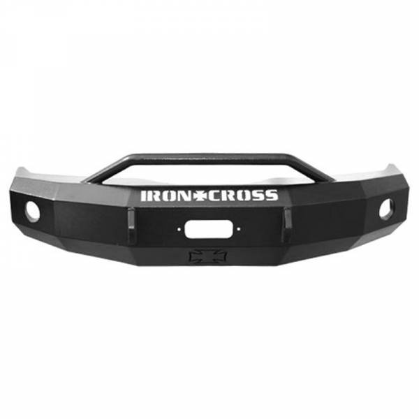 Iron Cross - Iron Cross 22-415-09-MB Winch Front Bumper with Push Bar for Ford F150 2009-2014 - Matte Black