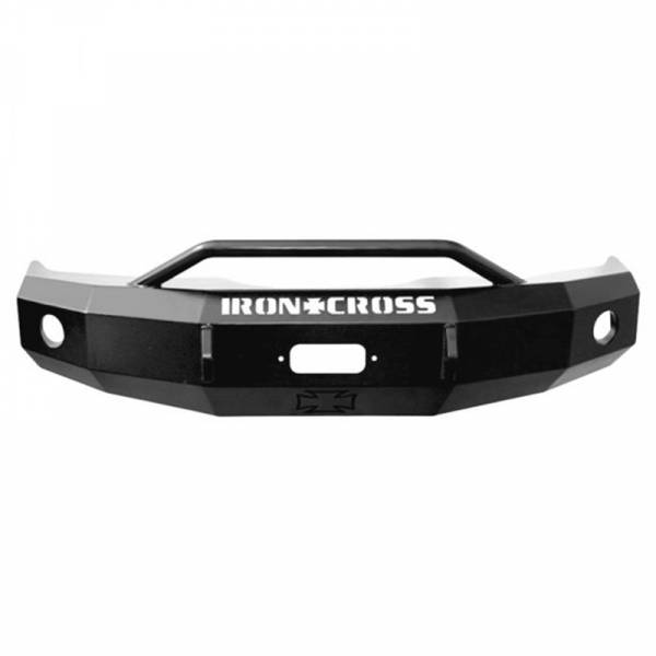 Iron Cross - Iron Cross 22-415-18-MB Winch Front Bumper with Push Bar for Ford F150 2018-2019 - Matte Black