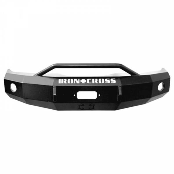 Iron Cross - Iron Cross 22-515-88-MB Winch Front Bumper with Push Bar for Chevy Silverado 1500/2500/3500 1988-1998 - Matte Black