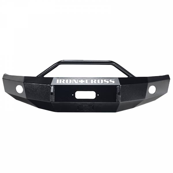 Iron Cross - Iron Cross 22-715-07-MB Winch Front Bumper with Push Bar for Toyota Tundra 2007-2013 - Matte Black