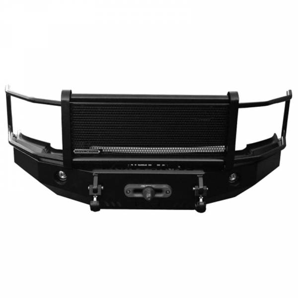 Iron Cross - Iron Cross 24-515-07 Winch Front Bumper with Grille Guard for Chevy Silverado 1500 2007-2013 - Gloss Black