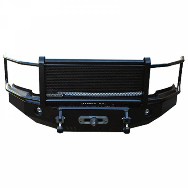 Iron Cross - Iron Cross 24-515-16-MB Winch Front Bumper with Grille Guard for Chevy Silverado 1500 2016-2018 - Matte Black