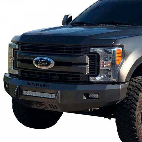 Iron Cross - Iron Cross 40-425-17 Low Profile Front Bumper for Ford F250/F350 2017-2021 - Gloss Black