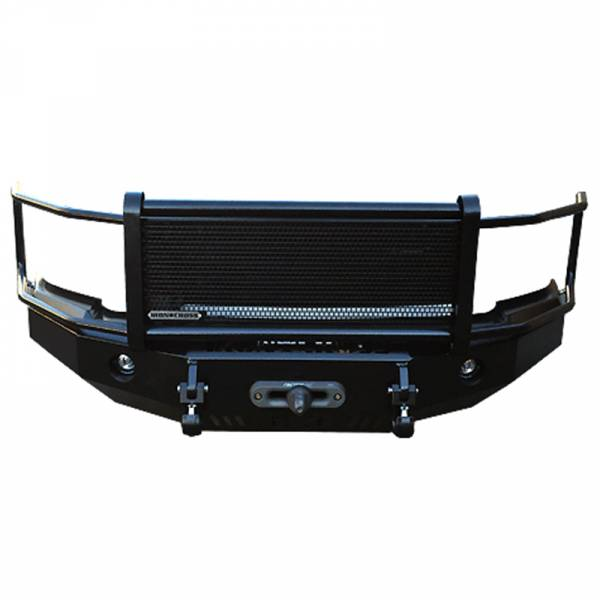 Iron Cross - Iron Cross 24-925-16-MB Winch Front Bumper with Grille Guard for Nissan Titan XD 2016-2019 - Matte Black