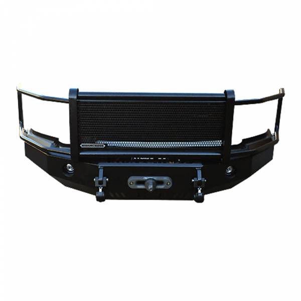 Iron Cross - Iron Cross 24-915-16 Winch Front Bumper with Grille Guard for Nissan Titan 2016-2019 - Gloss Black