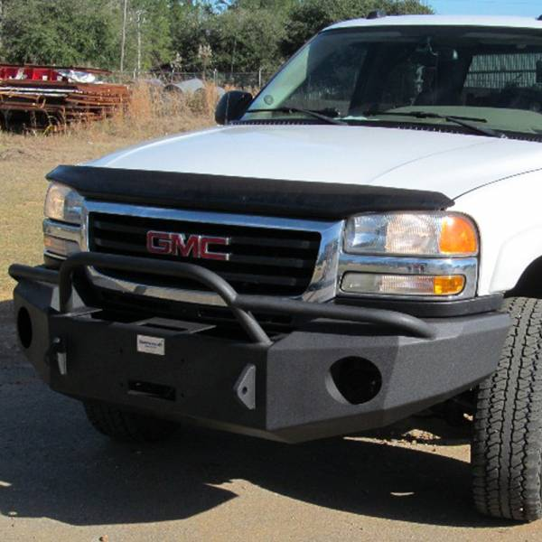 Hammerhead Bumpers - Hammerhead 600-56-0115 Winch Front Bumper with Pre-Runner Guard and Square Light Holes for GMC Sierra 2500 HD/3500 HD 2003-2006