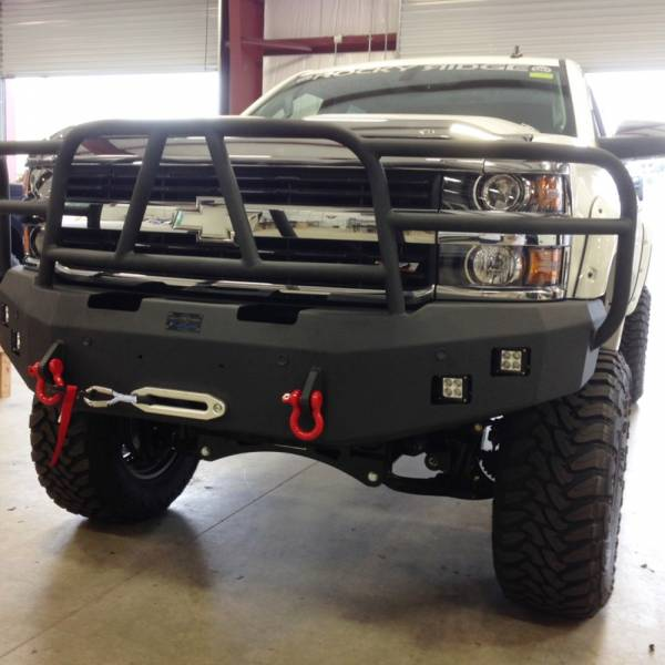 Hammerhead Bumpers - Hammerhead 600-56-0277 X-Series Winch Front Bumper with Full Brush Guard and Sensor Holes for Chevy Silverado 2500/3500 2015-2019