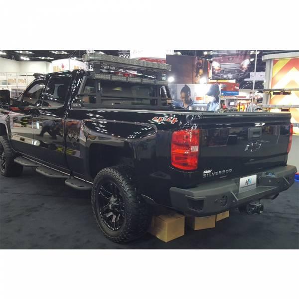 Hammerhead Bumpers - Hammerhead 600-56-0272 Rear Bumper with Sensor Holes for Chevy Silverado 2500/3500 2015-2019