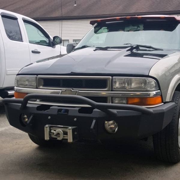 Hammerhead Bumpers - Hammerhead 600-56-0111 Winch Front Bumper with Pre-Runner Guard and Round Light Holes for Chevy Silverado S10 ZR2 1994-2003