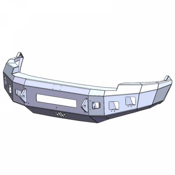 Hammerhead Bumpers - Hammerhead 600-56-0818 Low Profile Front Bumper with Square Light Holes for Dodge Ram 1500 2009-2012