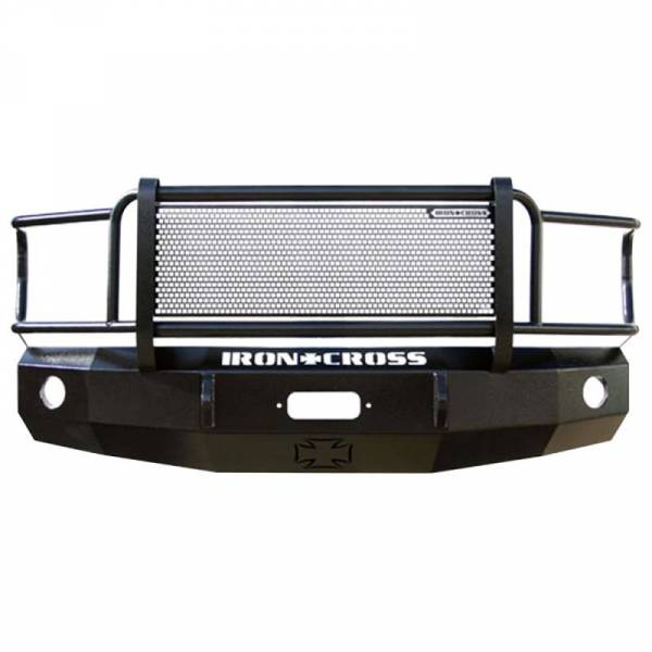 Iron Cross - Iron Cross 24-325-11 Winch Front Bumper with Grille Guard for GMC Sierra 2500/3500 2011-2014 - Gloss Black