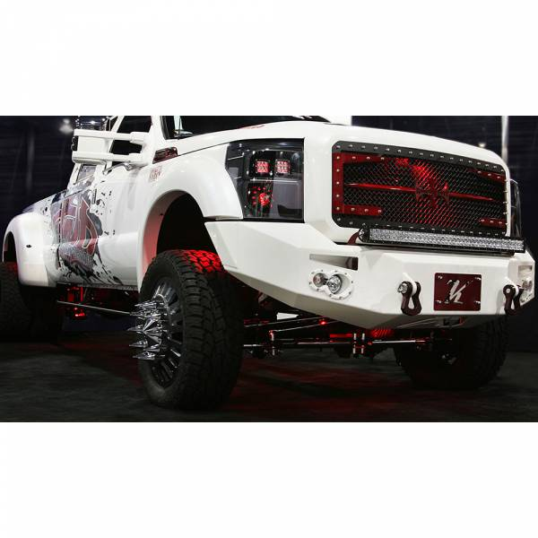 Fab Fours - Fab Fours FS11-A2651-1 Winch Front Bumper with Sensor Holes for Ford F450/F550 2011-2016