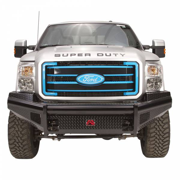 Fab Fours - Fab Fours FS11-S2561-1 Black Steel Front Bumper for Ford F250/F350/F450/F550 2011-2016