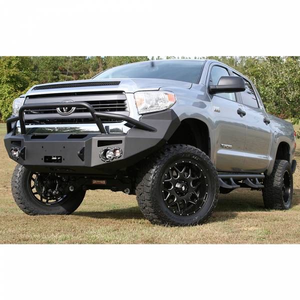 Fab Fours - Fab Fours TT14-H2852-1 Winch Front Bumper with Pre-Runner Guard for Toyota Tundra 2014-2019