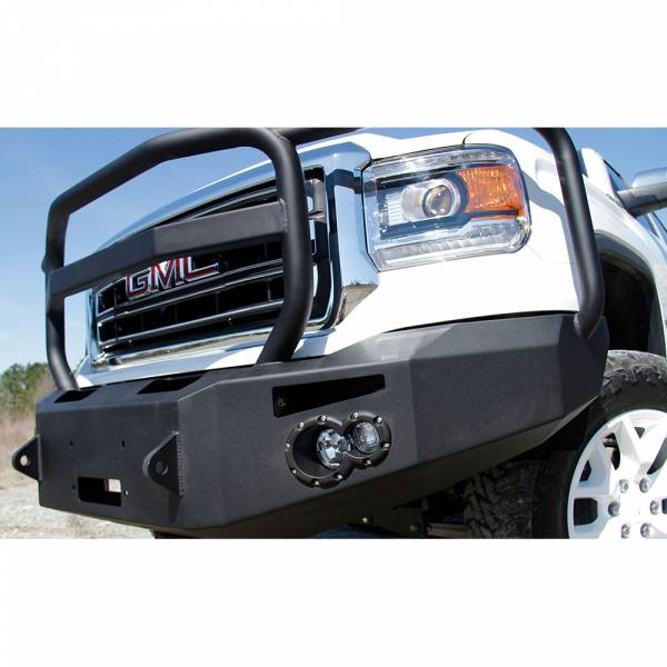 Fab Fours - Fab Fours GS14-H3150-1 Winch Front Bumper with Full Guard for GMC Sierra 1500 2014-2015