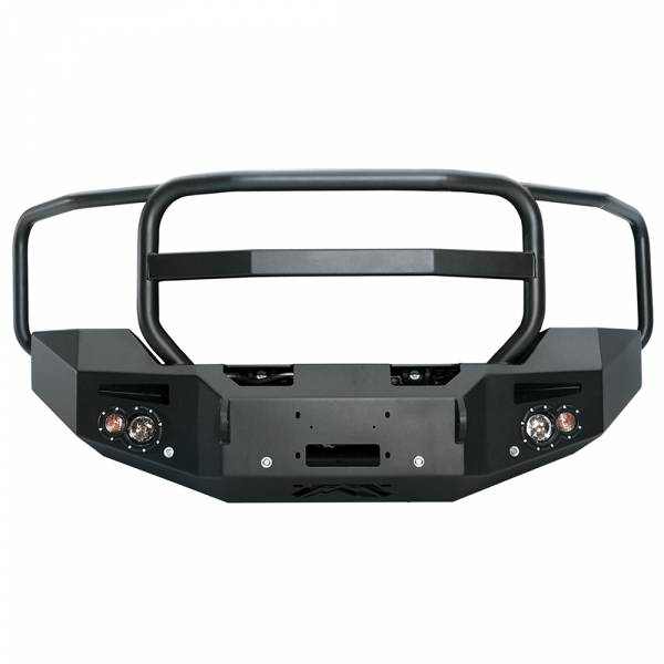 Fab Fours - Fab Fours GM14-C3150-1 Winch Front Bumper with Full Guard and Sensor Holes for GMC Sierra 2500/3500 2015-2019